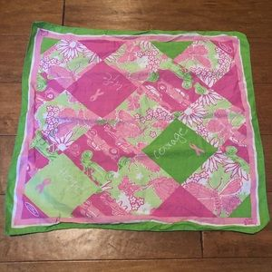 Euc Lilly Pulitzer Breast Cancer Awareness bandana